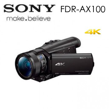 SONY FDR-AX100 4K高畫質攝影機(FDR-AX100/BC)