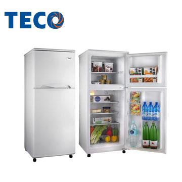 【福利品】東元 130公升1級雙門冰箱(R1302W)