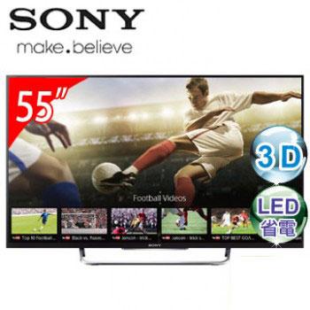 【福利品】SONY 55型3D LED智慧型連網電視(KDL-55W800B)