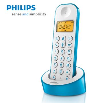 PHILIPS簡單生活多彩數位無線電話(D1201WA(藍白))