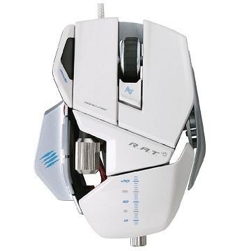 MADCATZ 美加獅RAT.5雷射滑鼠-白(MCB437050001/04/1)