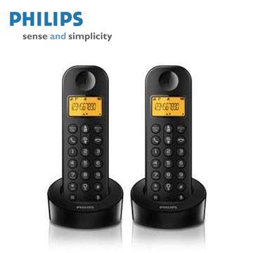 PHILIPS簡單生活數位無線電話(雙機)(D1202B)