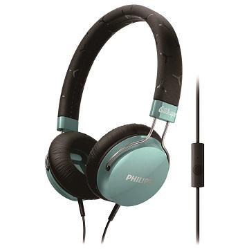 PHILIPS SHL5305頭戴式耳機麥克風-藍綠(SHL5305TL/00)