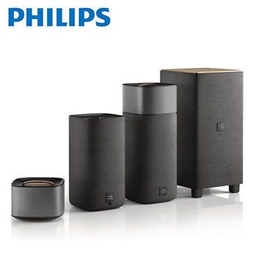 PHILIPS Fidelio環繞木質NFC/藍牙音響 CSS7235Y