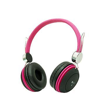 人因 E380頭戴式三用耳機麥克風-粉紅(E380P)