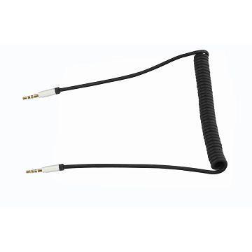 Q PNP 耳機/麥克風音源分享伸縮線2M-黑