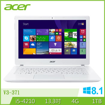 ACER 四代i5輕薄筆電(V3-371-67HZ(白))