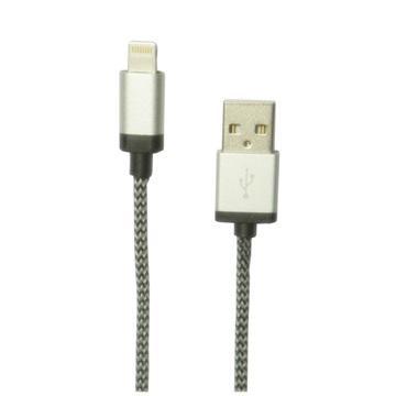 【1M】Apple认证-铝合金Lightning 8pin编织线(ZBAND-05)