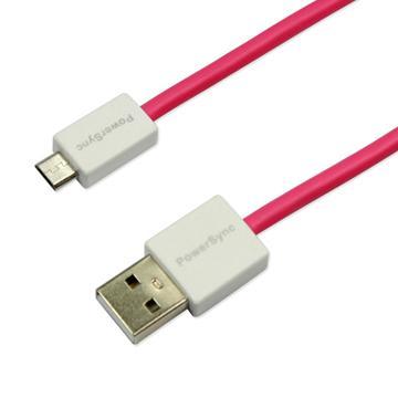 群加Micro B USB傳輸線1.5M粉紅(USB2-ERMIB152)