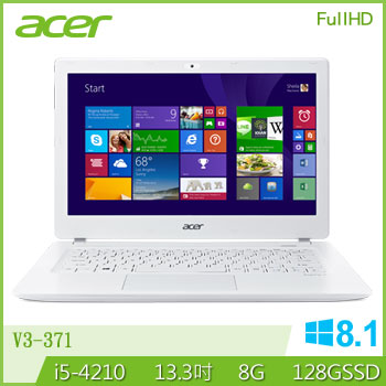 ACER 四代i5輕薄FHD筆電(V3-371-59G4)