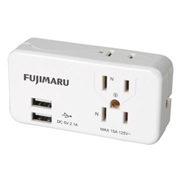 FUJIMARU 3座2+3孔 USB擴充座(FJ-M03AU2-W)
