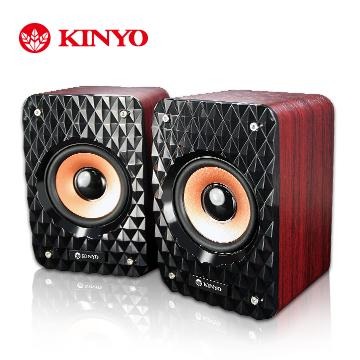 KINYO USB木質立體擴大喇叭(US-178)