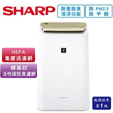 SHARP 10公升HEPA除菌除濕機(DW-E10FT-W)