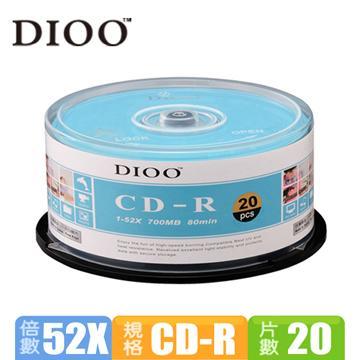 DIOO 海洋版 52X CD-R 20片桶裝(D-MDA020)