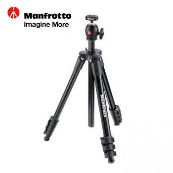 Manfrotto 輕巧旅行腳架 (黑)(MKCOMPACTLT-BK)