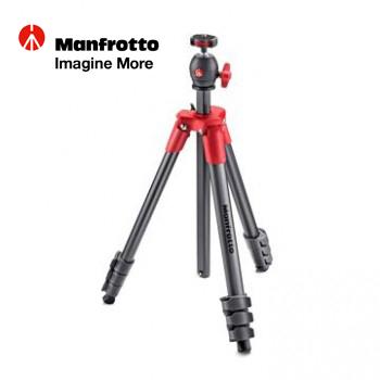 Manfrotto 輕巧旅行腳架 (紅)(MKCOMPACTLT-RD)