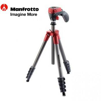 Manfrotto 輕巧攝錄兩用腳架 (紅)(MKCOMPACTACN-RD)