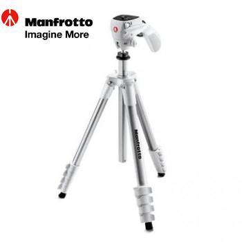 Manfrotto 輕巧攝錄兩用腳架 (白)(MKCOMPACTACN-WH)