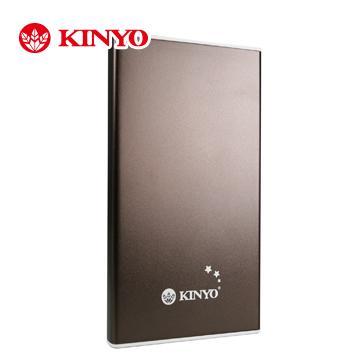 KINYO iPad用鋁鎂合金6000mAh隨身電源(NB-101)