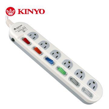 KINYO 六開六插安全延長線(MR66-06)
