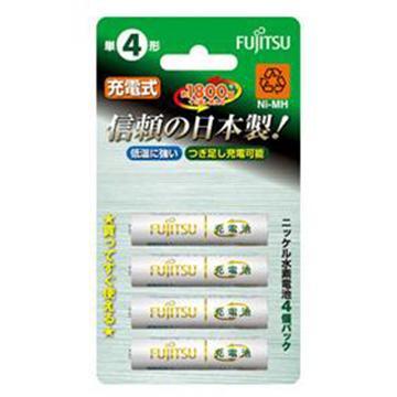 富士通日本原裝低自放電充電電池-4號4入(HR-4UTA (4B))