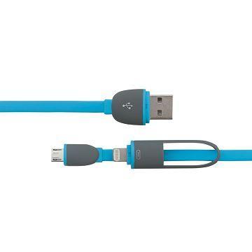 R-driver 8pin/micro usb傳輸充電線-藍(RU2FTMI1MBE)