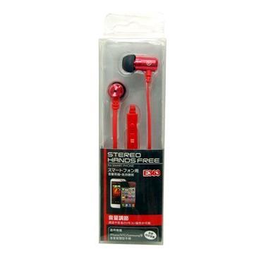 人因E363R智慧型手機免持耳機麥克風(紅)(E363R-01)