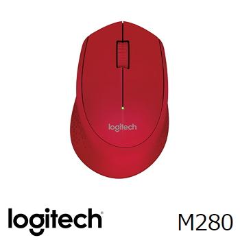 羅技 Logitech M280 無線滑鼠 - 紅 910-004299