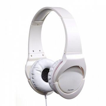 Pioneer 耳罩式耳機 SE-MJ721-白(SE-MJ721-W)