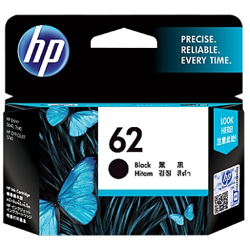 HP 62 黑色墨水匣(C2P04AA)