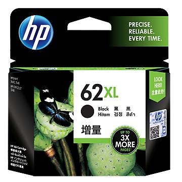 HP 62XL 高容量黑色墨水匣