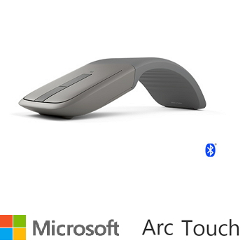 Microsoft Arc Touch 藍牙滑鼠-灰(7MP-00006)