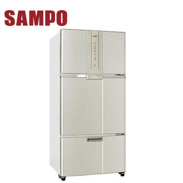 聲寶455公升1級三門變頻冰箱(SR-N46DV(Y2))