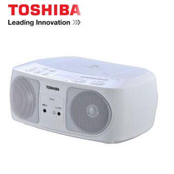 TOSHIBA USB手提CD音響 (白)