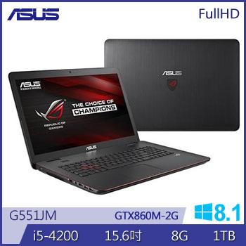 華碩 4代i5 2G獨顯電競筆電(G551JM-0041B4200H)