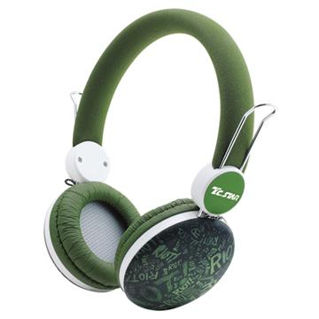 T.C.STAR TCE8768頭戴式耳機麥克風-綠(TCE8768GN)