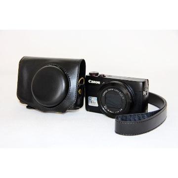 Canon G7X 兩件式皮質包-黑(KAMERA GX7皮套-黑)