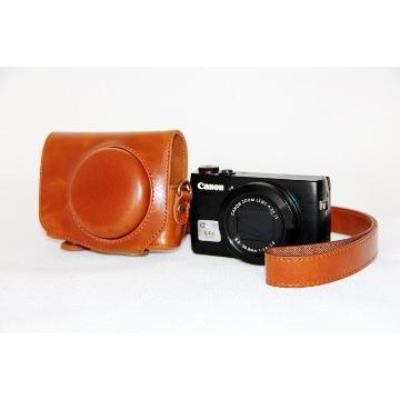 Canon G7X 兩件式皮質包-咖(KAMERA GX7皮套-咖)