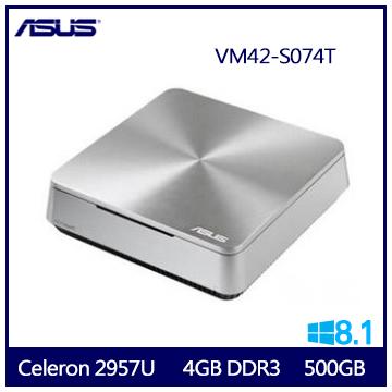 【福利品】ASUS VM42 2957U Intel-HD-Graphics 商用迷你桌上型電腦 VM42-S074T