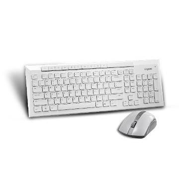 雷柏白色之戀無線光學鍵鼠組(8200P-白)