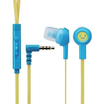 ELECOM 水果耳機麥克風-天空藍(EHP-CS3520MF1)
