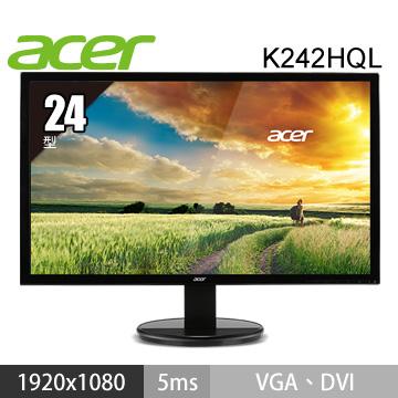 【福利品】【24型】ACER K242HQL LED(K242HQL(Bbd))