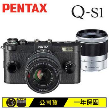 PENTAX Q-S1可交換式鏡頭相機雙鏡組-黑(Q-S1+02+06(黑))