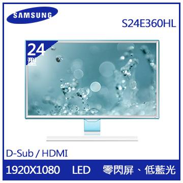 【展示機】【24型】SAMSUNG PLS液晶顯示器(S24E360HL)