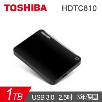 【1TB】TOSHIBA 2.5吋 行動硬碟(Connect II絨黑)(HDTC810AK3A1)