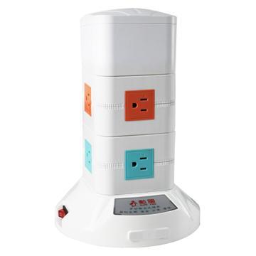 勳風雙層直立式電源插座(HF-315-2)