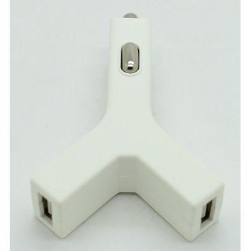 Q PNP Bullet 2.4A雙USB車充-白