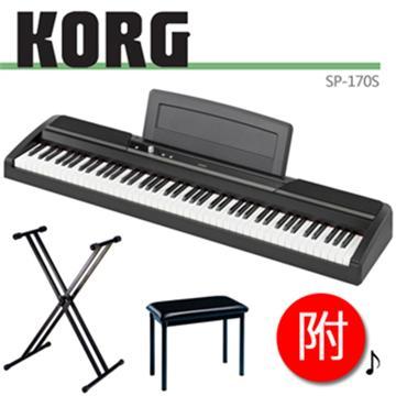 KORG 88鍵電鋼琴+琴架、琴椅(SP-170S(黑))