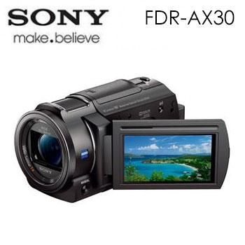 【福利品】 SONY FDR-AX30 4K高畫質攝影機(FDR-AX30)