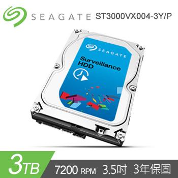 【3TB】Seagate Surveillance HDD 7200rpm(ST3000VX004-3Y/P)